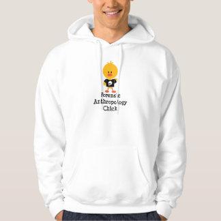 Camiseta forense del polluelo de la antropología sudadera pullover