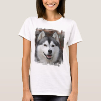 Camiseta fornida de las señoras del perro
