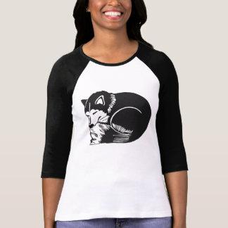 Camiseta fornida del raglán de las señoras el playera