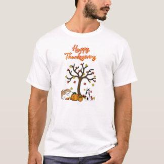 Camiseta fornida feliz de la acción de gracias