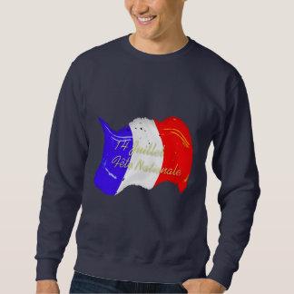 Camiseta francesa de la bandera del Grunge Sudadera Con Capucha