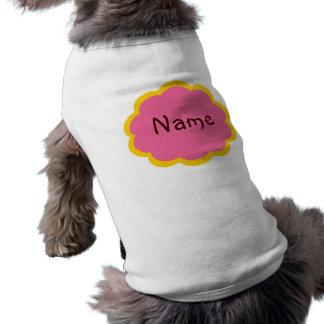 Camiseta fresca de Cutom del perro Playera Sin Mangas Para Perro