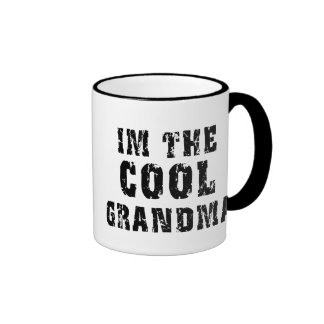 Camiseta fresca de la abuela tazas