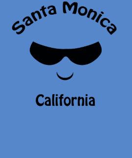 Camiseta fresca de las gafas de sol de Santa Playeras