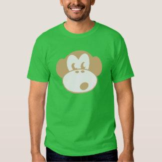 camiseta fresca del animal de la cara del mono camisas
