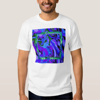 Camiseta fresca del arte en azul remera