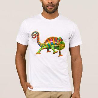 Camiseta fresca del camaleón de la pantera