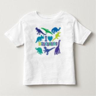 Camiseta fresca del dinosaurio - azul, púrpura y playera