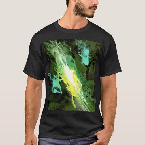 Camiseta fresca del diseño de la galaxia verde de
