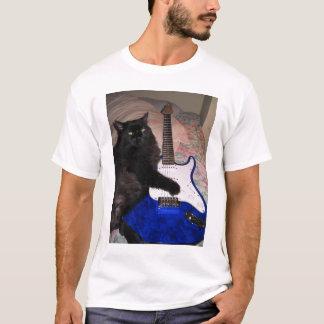 Camiseta fresca del gato del rock-and-roll