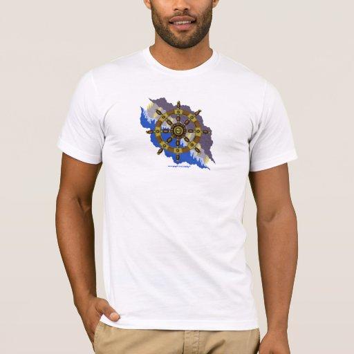 Camiseta fresca del gráfico del volante de la nave