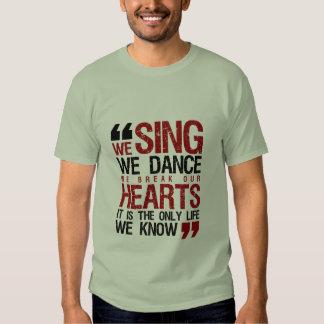 Camiseta fresca del Grunge de la cita de la música Remeras