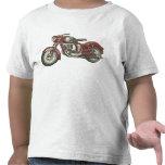 Camiseta fresca del niño con la moto retra roja gr