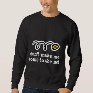 Camiseta fresca del tenis con lema divertido del suéter