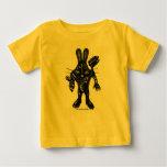 Camiseta fresca divertida del bebé del conejito poleras