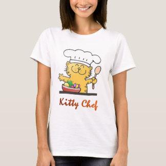 Camiseta fresca divertida del cocinero del gatito