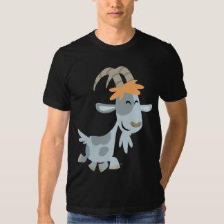 Camiseta fresca linda de la cabra del dibujo playeras
