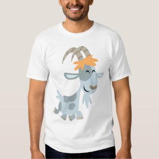 Camiseta fresca linda de los niños de la cabra del remera