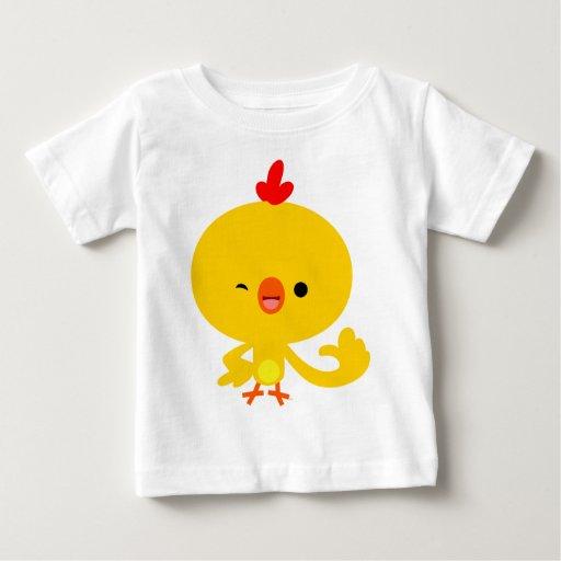 Camiseta fresca linda del bebé del pollo del