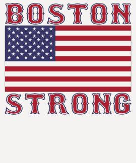 Camiseta FUERTE de la bandera americana de BOSTON
