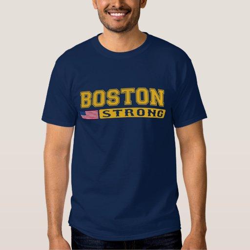 Camiseta FUERTE de la bandera de BOSTON los Playeras