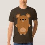 Camiseta fuerte linda del oso del dibujo animado poleras