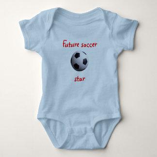 Camiseta futura de la estrella de fútbol poleras