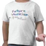 Camiseta futura de los niños de las notas musicale