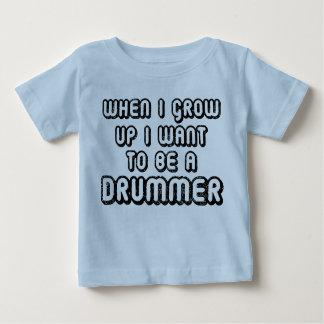 Camiseta futura del bebé de la música del batería polera