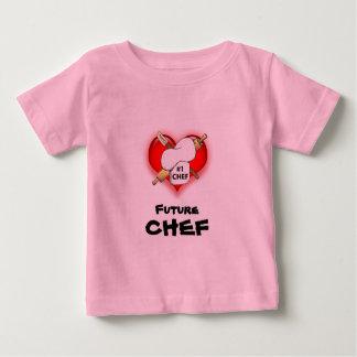 Camiseta futura del bebé del cocinero playeras