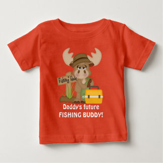 Camiseta futura del bebé del compinche de la pesca polera