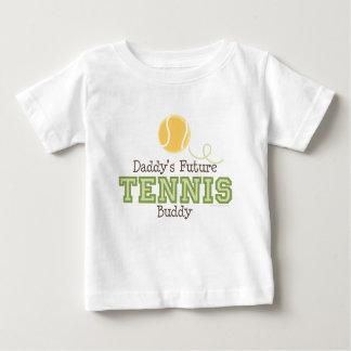 Camiseta futura del bebé del compinche del tenis playeras