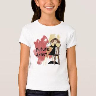 Camiseta futura del chica del artista