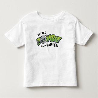 Camiseta futura del niño del cazador del zombi poleras