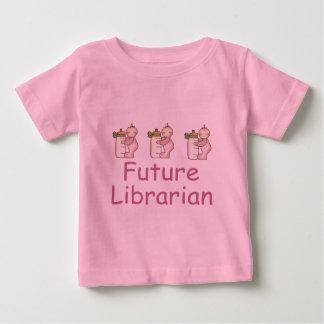 Camiseta futura linda del bebé del bibliotecario playeras