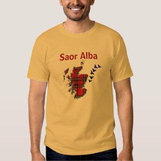 Camiseta gaélica libre Alba del pájaro de vuelo de Remera