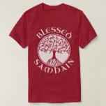 Camiseta gaélica pagana bendecida de Halloween del Playera