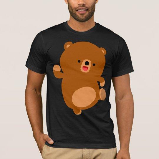 Camiseta gallarda linda del oso del dibujo animado