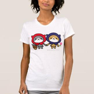 Camiseta - gatito con un amigo playeras