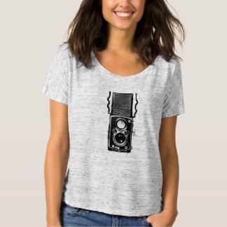 Camiseta gemela retra de la cámara de la lente de camisas