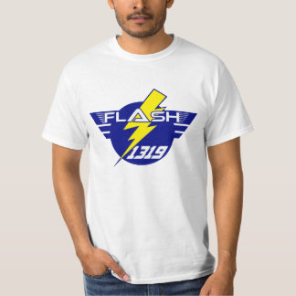 Camiseta general 1319 del flash (blanca) polera