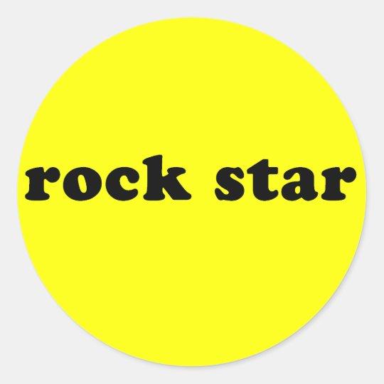 Camiseta genérica de la ESTRELLA DEL ROCK Pegatina Redonda