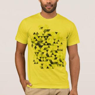 Camiseta geométrica amarilla del modelo de los