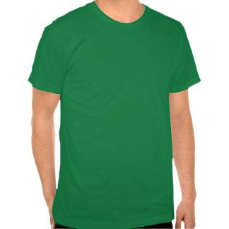 Camiseta geométrica de Basketweave en verde y gris