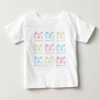 Camiseta geométrica del búho poleras