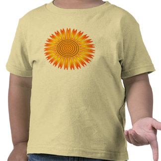 Camiseta geométrica del niño del girasol