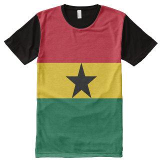 Camiseta ghanesa de la bandera nacional