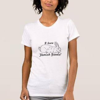 Camiseta gigante flamenca de las señoras del polera