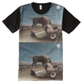 Camiseta gitana del arte el dormir de Rousseau