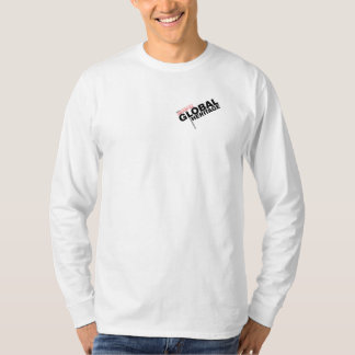 Camiseta global de la herencia con el logotipo poleras
